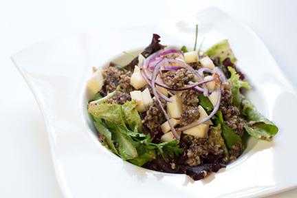 warm haggis salad