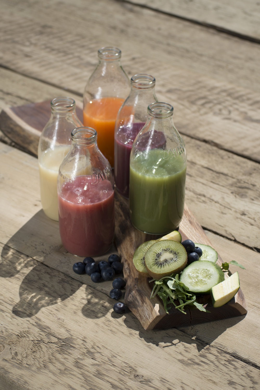 a fruit or vegetable smoothie (sipped not gulped) hits the spot as the night progresses! create your own or get one off the shelf...
