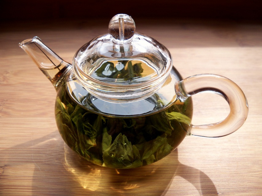... or perhaps a pot of calming and refreshing herb tea? mint is especially good - just soak a bunch of fresh leaves in a pot for 10 minutes...