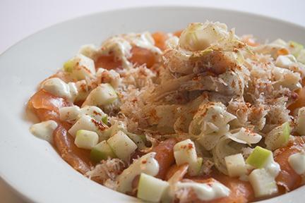 Crab, Salmon, Avocado, Fennel and Apple Salad