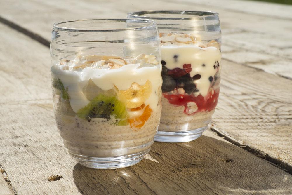 Fresh Fruit Salad with Crunchy Yoghurt -