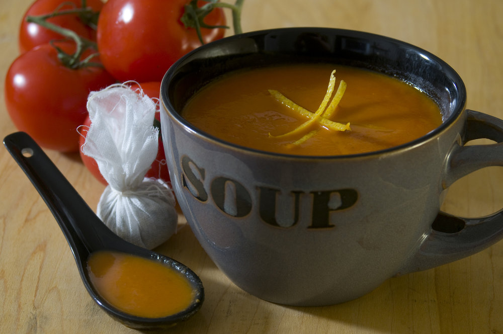 lunch - Mug of Spicy Tomato Soup