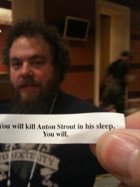 Did you know that Anton Strout and Patrick Rothfuss are arch-nemeses? It's kind of scary...