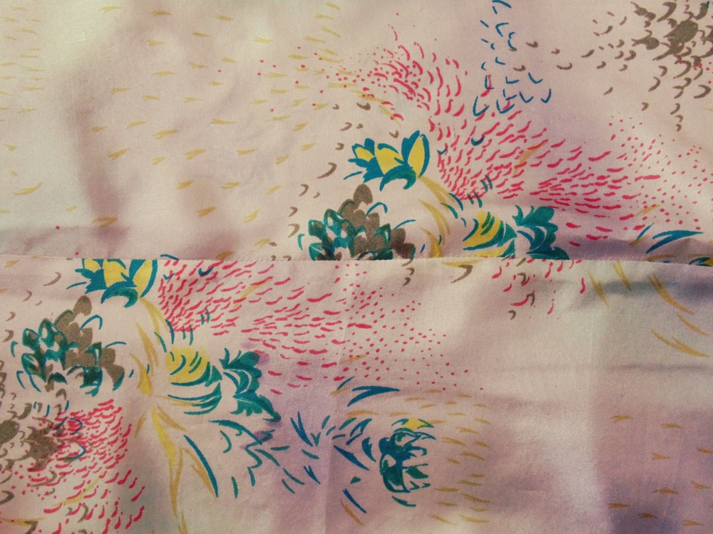 One-of-a-kind vintage silk twill!