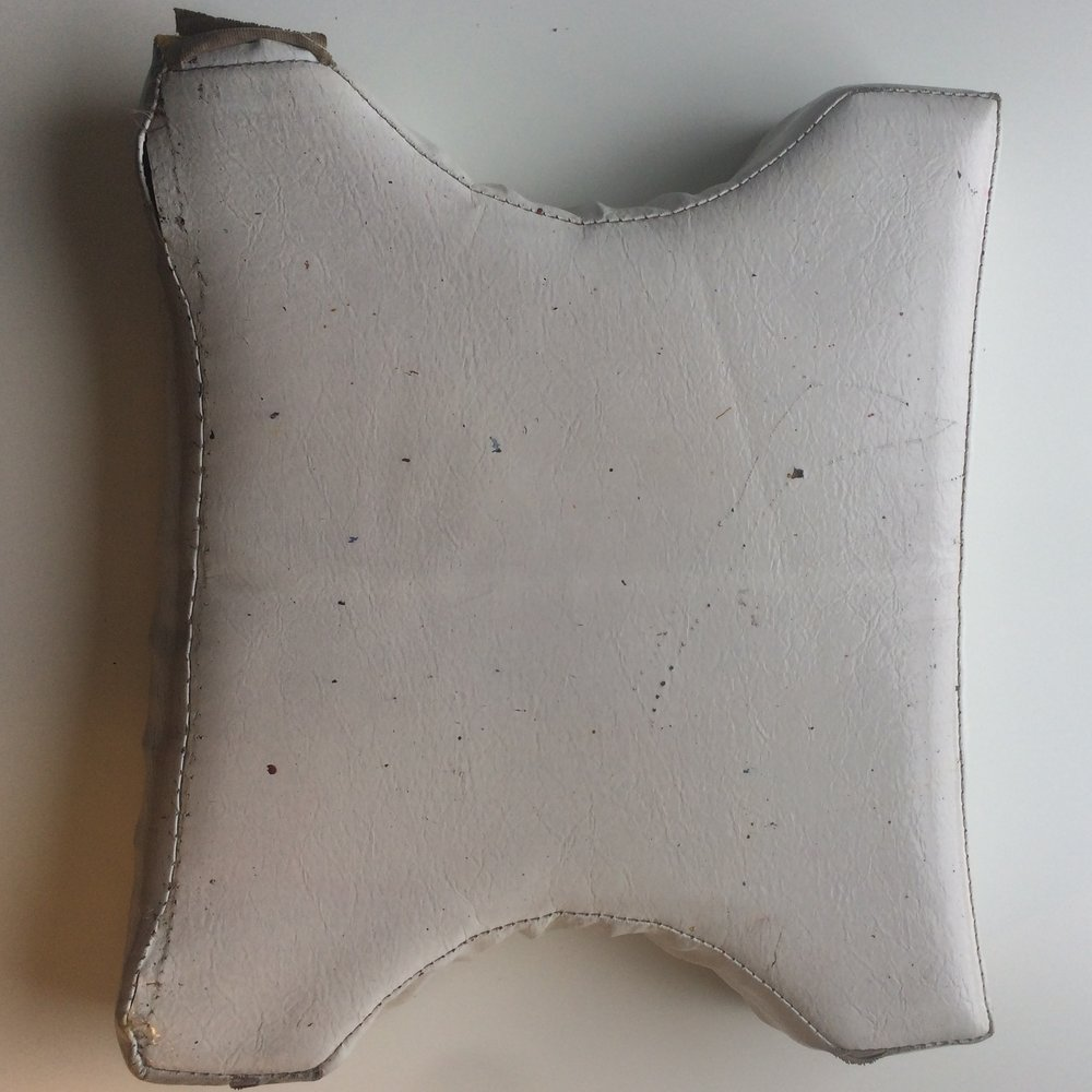 The original cushion...looking in desperate need of some attention.