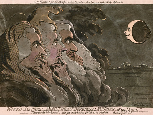 1791 parody of Henry Fuseli's work by James Gillray
