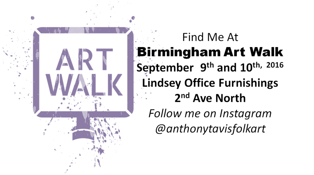 One of My favorite events!    http://www.birminghamartwalk.org/