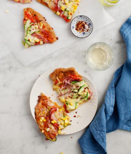 SUMMER SQUASH VEGETABLE PIZZA | loveandlemons.com