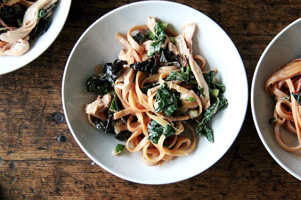 Sesame Noodles With Swiss chard -
