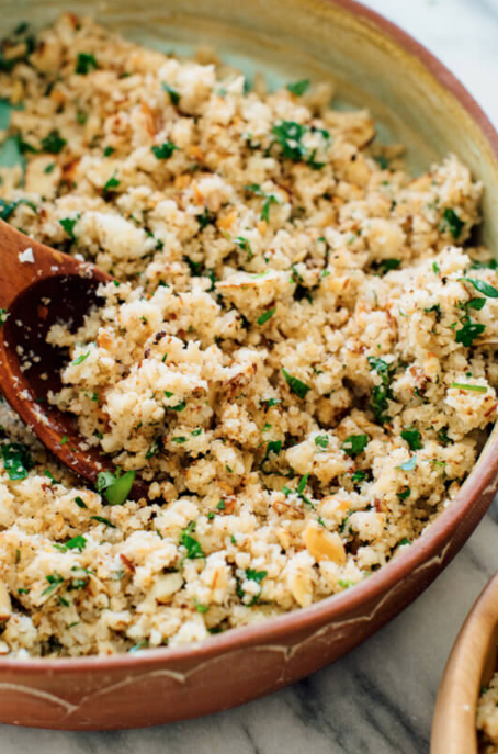 Mediterranean Cauliflower Rice -