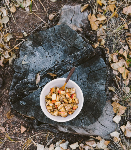 Campfire Apple Crisp Breakfast -