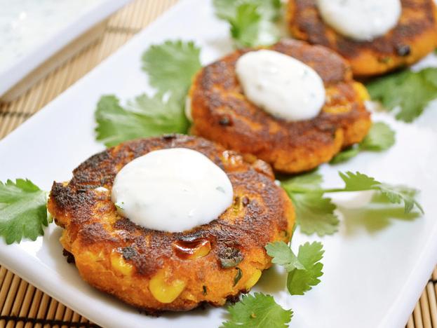 Sweet Potato Corn Cakes -