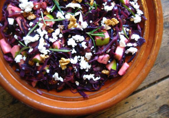 Warm Cabbage Salad -