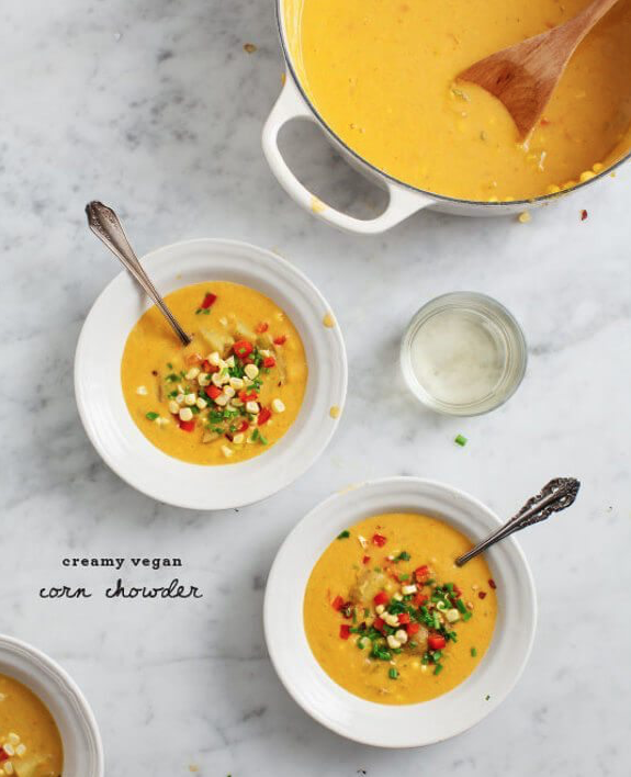 Creamy Vegan Corn Chowder -