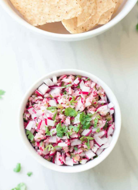 Cucumber Radish Salsa -