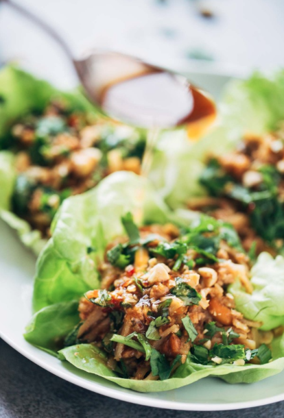 asian chicken lettuce cups -