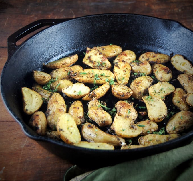 Garlic and Herb Roasted Fingerling Potatoes -