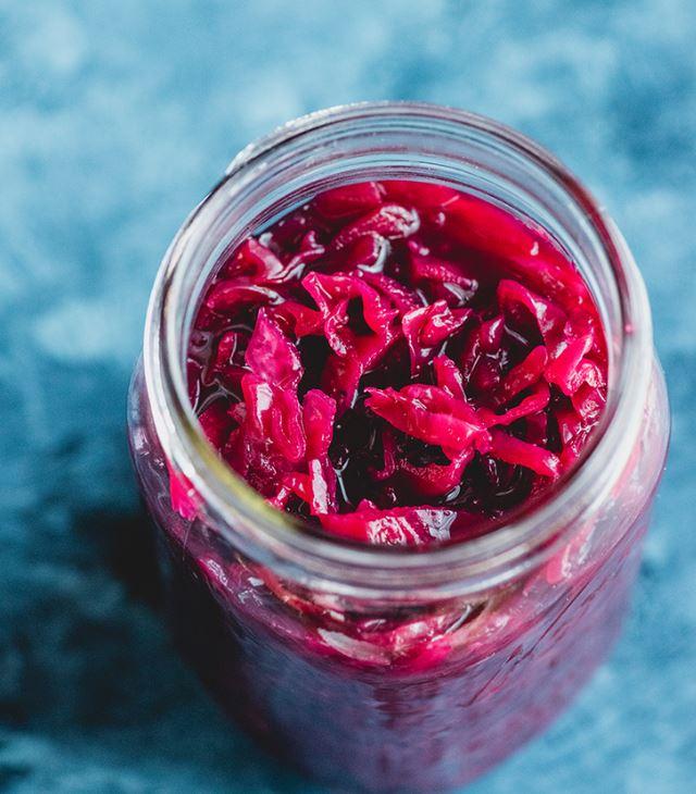 Red Cabbage Sauerkraut -