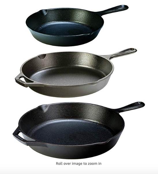 Lodge Cast Iron Pans - (set of three)