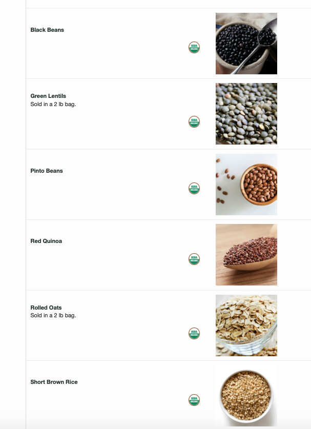 Did you know we offer ORGANIC bulk grains in our add ons store? -