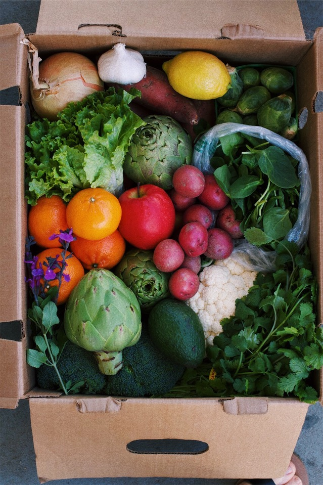 "keep your ""Hello Harvest"" box coming exactly like it is - $33 for work place pick-up.$39 for home delivery."