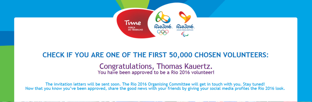 It will be my second Olympic Games -  Rio 2016