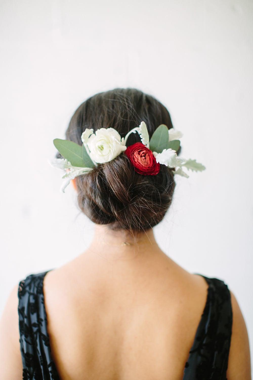 Hair Tutorial Looped Bun Flower Crown Society