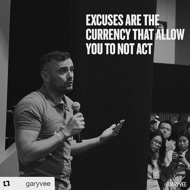 "#Repost @garyvee (@get_repost)  People just don't want to ""Do"" or aren't there yet .. but this is a binary conversation, either you want to put in the work towards your goals because you see it and understand the cost or you don't and you start looking for reasons why you are screwed or it's messed up or you were dealt a bad hand ... it's stunning how in charge you are and how much opportunity there actually is once you open your eyes and stop making excuses!  #garyvee #inspirationalquotes #gevitta #glowbygevitta #trevorjosephfisher #vape #entrepreneur #hustle"