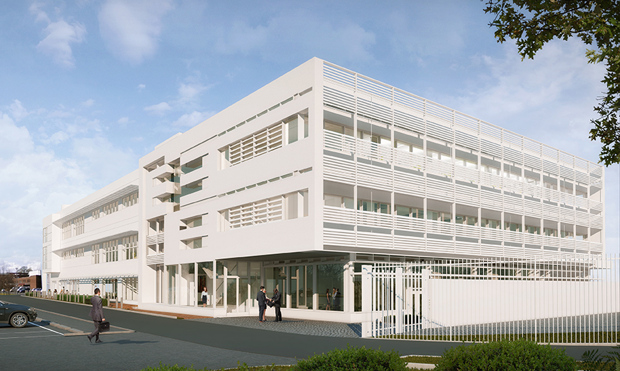 RCSI Beaumont The project will consist of a 2,800 sq. m three-story extension to the existing ERC building in Beaumount Hospital and will incorporate a new student concourse at ground floor to link the existing building, with the new facility.