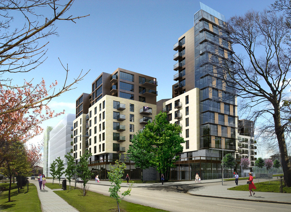 Ravensrock Road This mixed-use residential and retail scheme in Sandyford comprises of 182 apartment units, retail, accommodation and a private gym which address a south-west facing open courtyard.