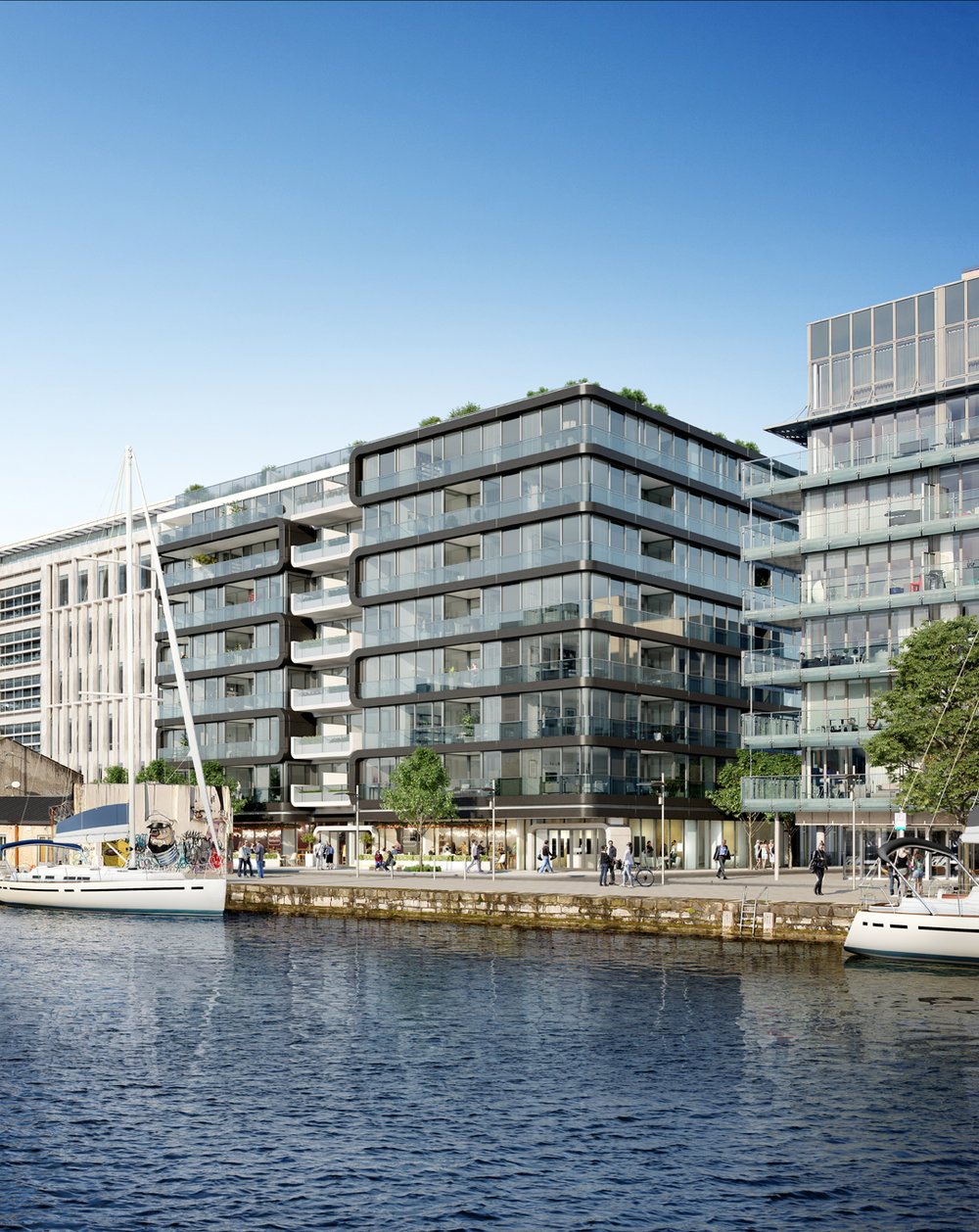 Hanover Quay Hanover Quay is a new luxury contemporary residential apartment building Located in the Dublin Docklands in close proximity to Grand Canal Square.