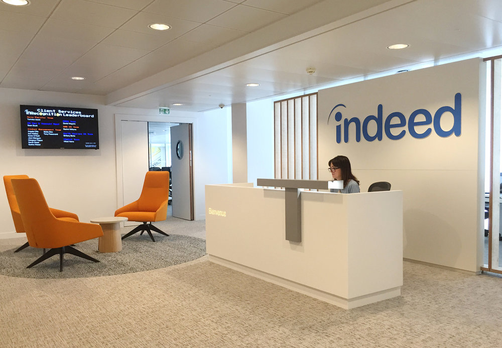 Indeed.com, Paris   Following on from working on Indeed's Dublin EMEA headquarters and London offices MDO designed Indeed's Paris office.