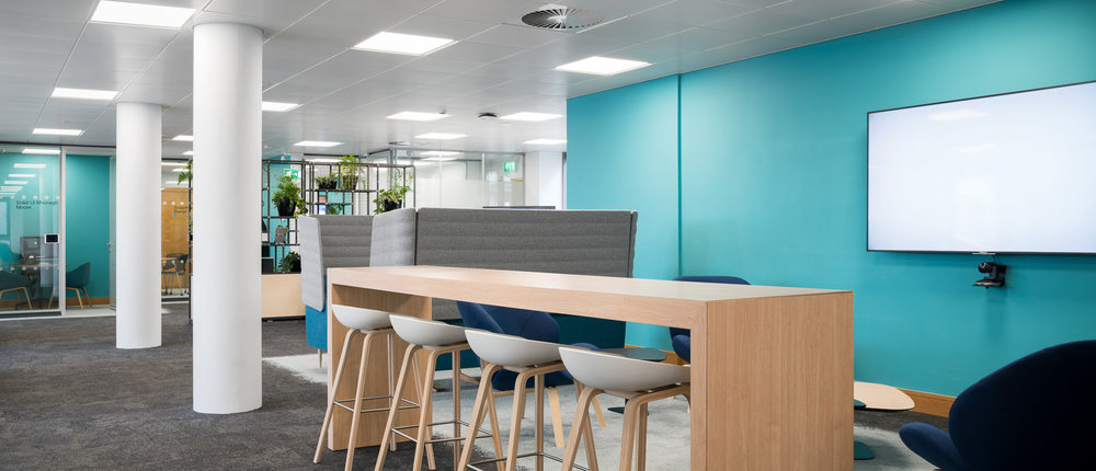 Square, Dublin   MDO's new office for Square first Dublin office combines design that sits within their design ethos alongside stringent security requirements required for a financial payments company.