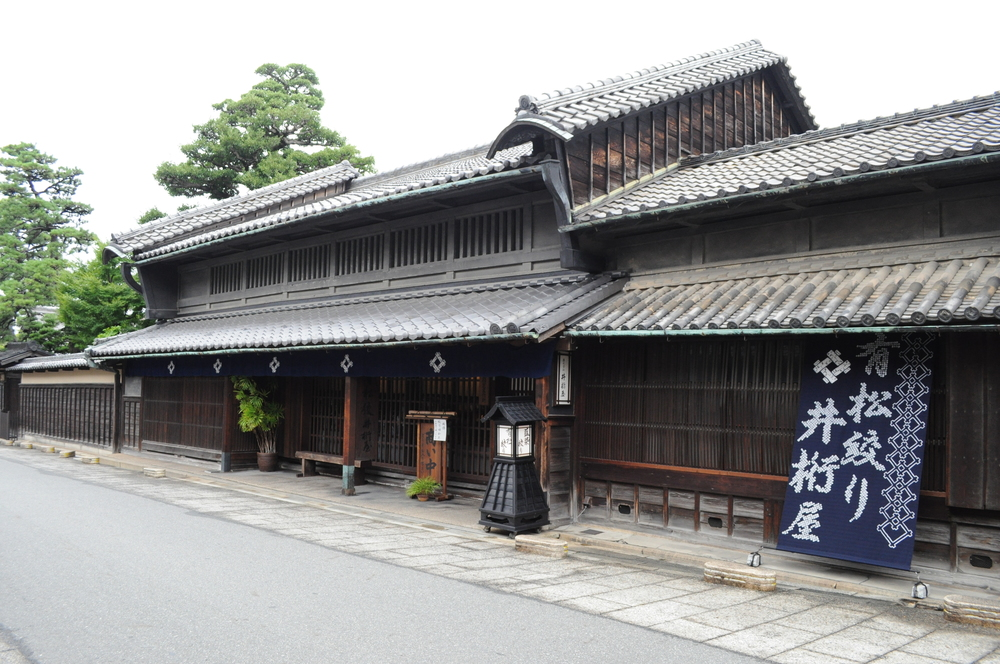 Traditional Machiya (townhouse) style shop, specialized in shibori