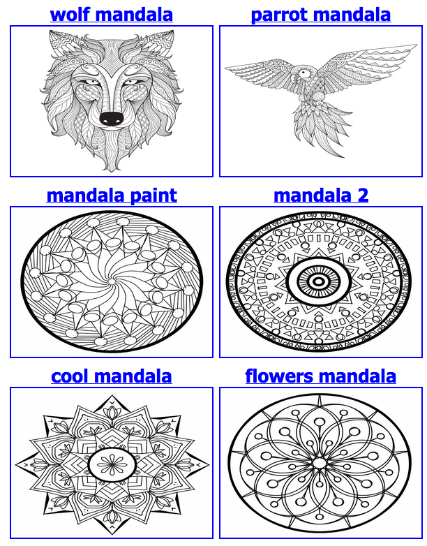 Mandala coloring pages - In their own words, you