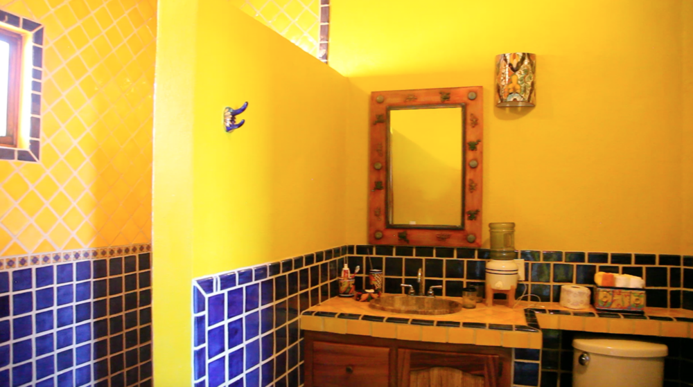 The Master Bath is bright and roomy with shower and toilet facilities.