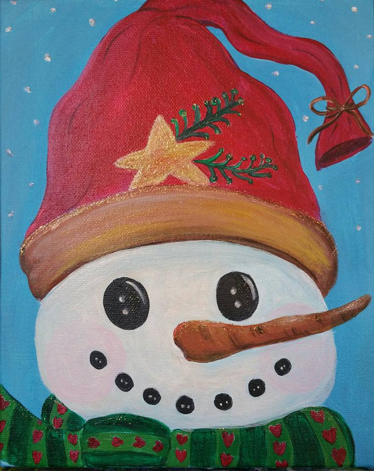 Snowman with glitter