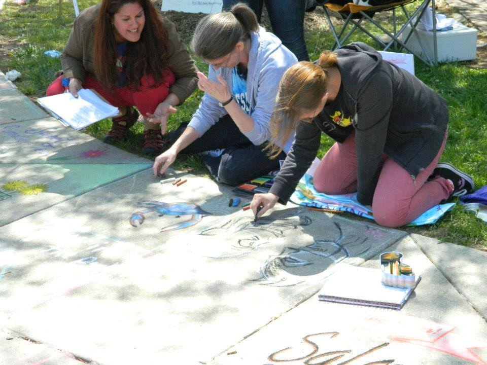 Chalk Walk Events - Adult and Youth Chalk Art competitions were set up at the local Arts Festivals for years until the crowds got just too big. See slide show below.