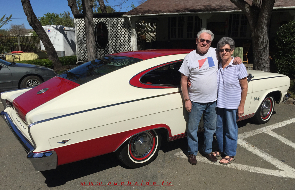 Neil and Jean Dolce pose with their beautiful 1965 Rambler Marlin