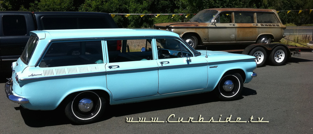 1961 Corvair Lakewood wagon and 1962 Corvair 900 Wagon