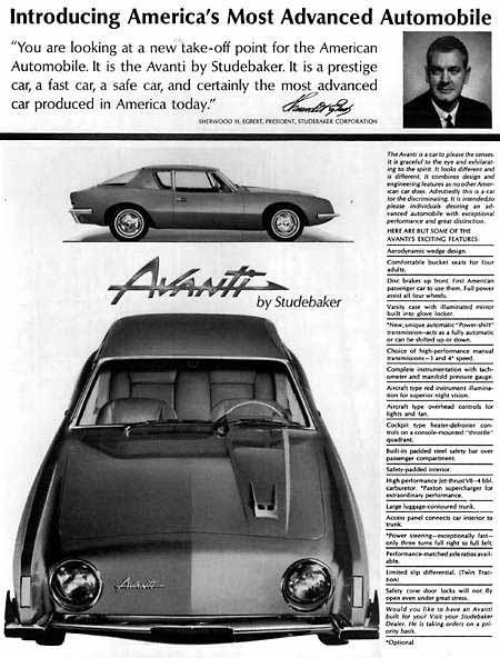 Studebaker Avanti Ad