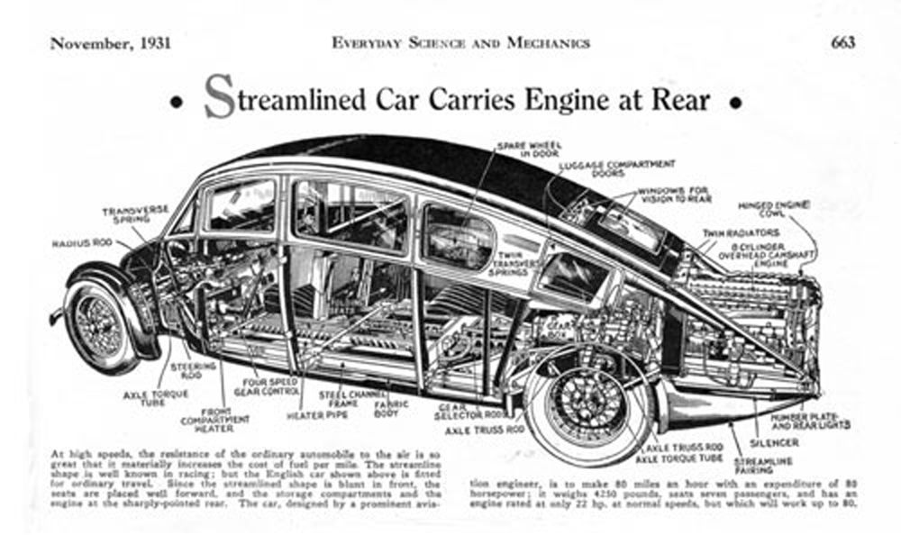 Burney Streamliner cutaway view