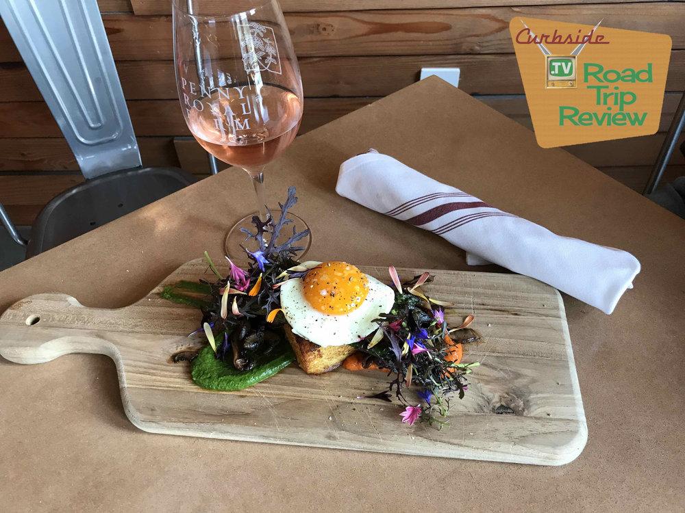 Polenta, egg & asparagus