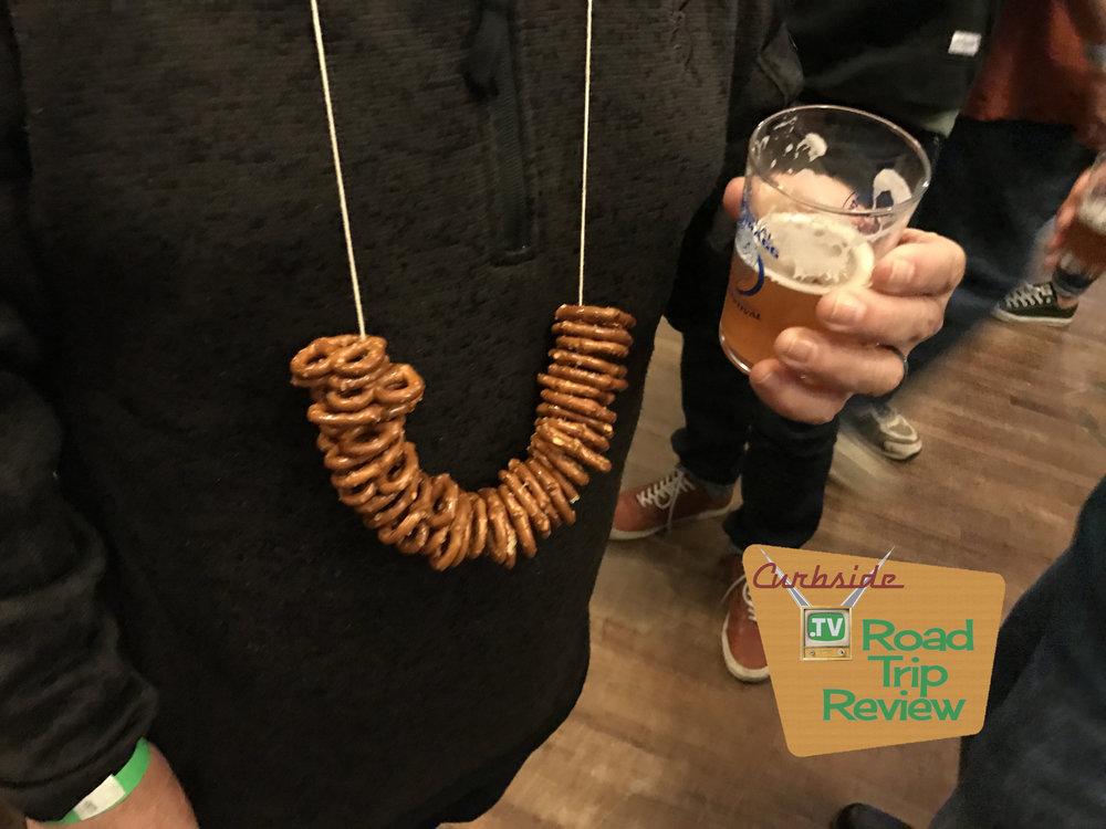 Beer pretzels at a beer event