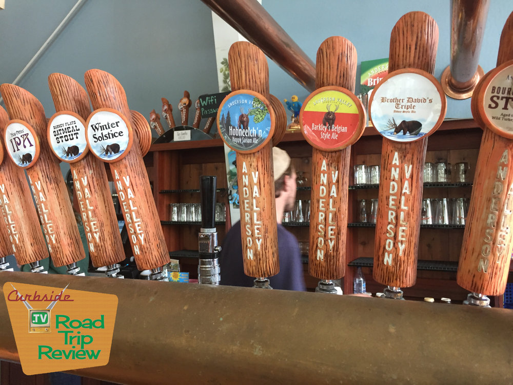 Beer taps at Anderson Valley