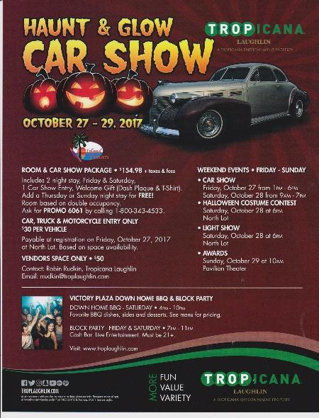 Halloween Haunt Glow Curbside Car Show Calendar - Laughlin car show