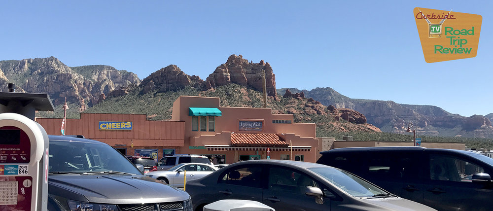 Sedona's shopping in the shadow of incredible rock formations
