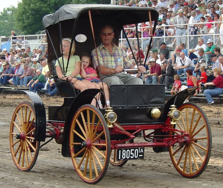This car is Sears number 1159 and is owned by the Daniel Peterson family. It is show participating in the Old Threshers Reunion in Mt Pleasant, IA which occurs labor day weekend each year.