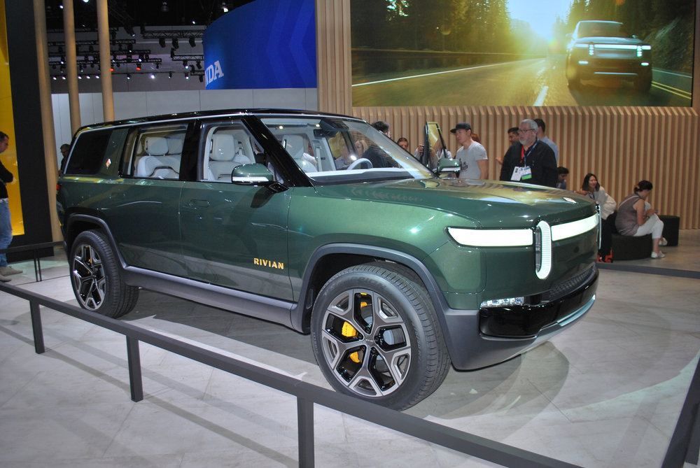 Rivian all-electric SUV at the 2018 Los Angeles International Au