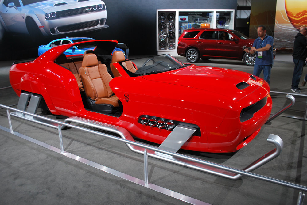 Santa's new sleigh courtesy of Dodge at the 2018 LA Auto Show
